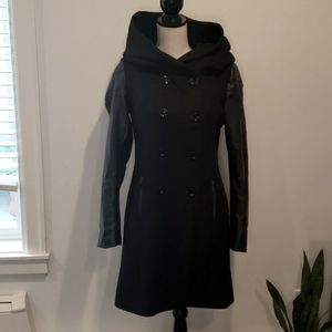 ONLY Oversized Hood double breasted mixed coat